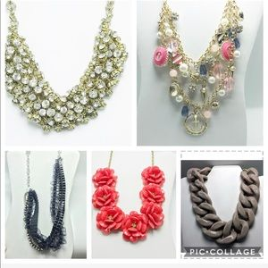 Lot of 5 statement necklaces j crew more